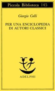 Enciclopedia-Giorgio Colli